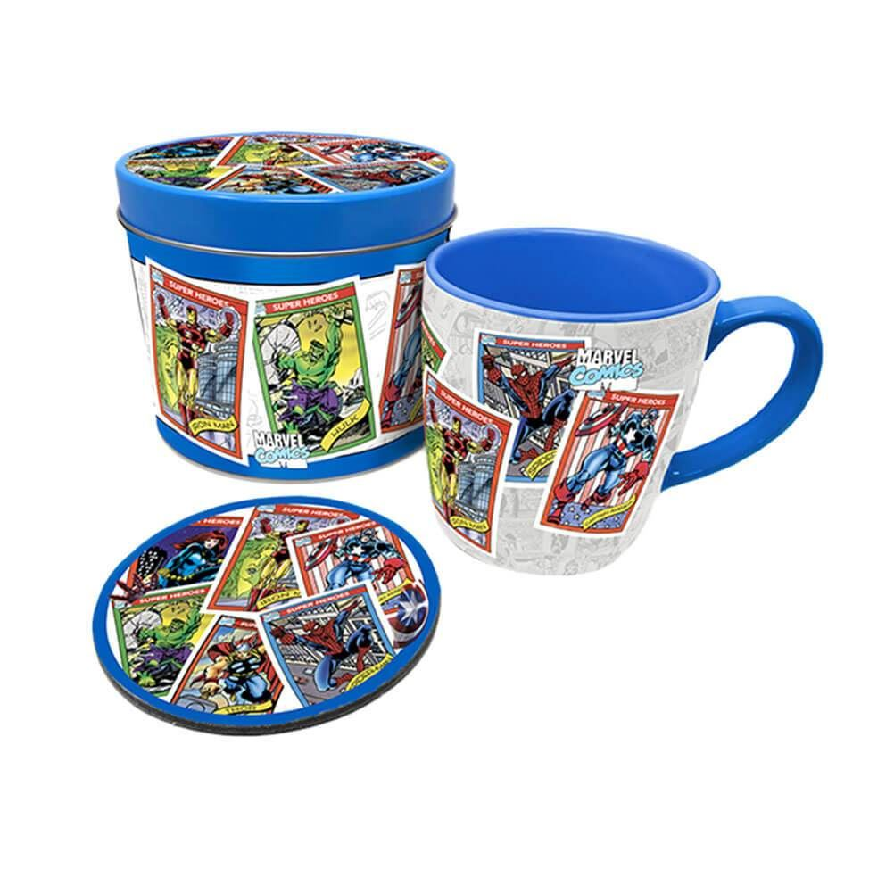 Marvel Avengers Retro Mug and Coaster Set in Gift Tin