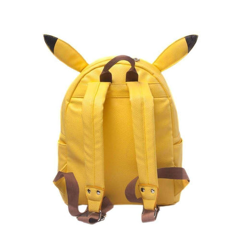 Back View of Pokemon Yellow Backpack with Adjustable Shoulder Straps