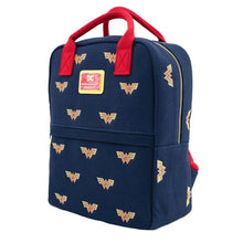 Load image into Gallery viewer, Loungefly x DC Comics Wonder Woman Logo Canvas Mini Backpack