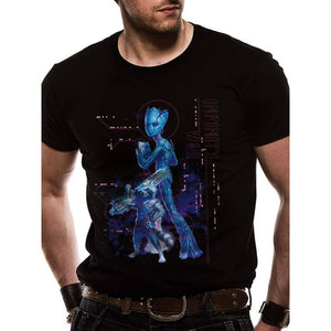 Men's Marvel Avengers Infinity War Neon Groot and Rocket T-Shirt