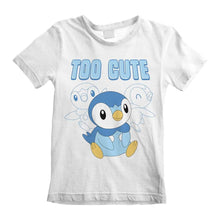 Load image into Gallery viewer, Children's Pokemon Piplup Too Cute White T-Shirt