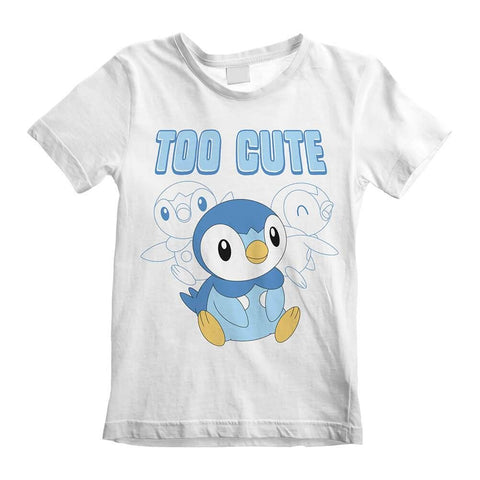 Children's Pokemon Piplup Too Cute White T-Shirt