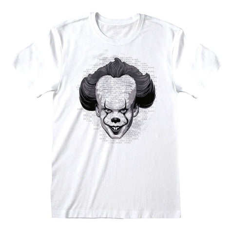 Men's IT Chapter 2 Pennywise Face White T-Shirt