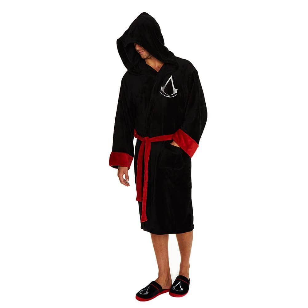 Assassin\'s Creed Adult Logo Black Dressing Gown – Retro Styler