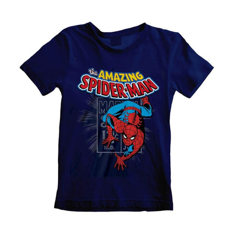 Children's Marvel Comics The Amazing Spider-Man Blue T-Shirt