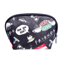 Load image into Gallery viewer, Friends Icons AOP Black Toiletry Bag