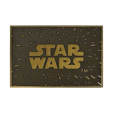 Load image into Gallery viewer, Star Wars Logo Gold Rubber Doormat