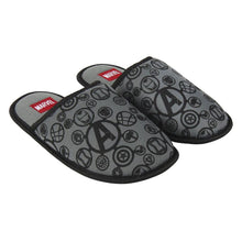 Load image into Gallery viewer, Men's Marvel Avengers Logo Grey Mule Slippers