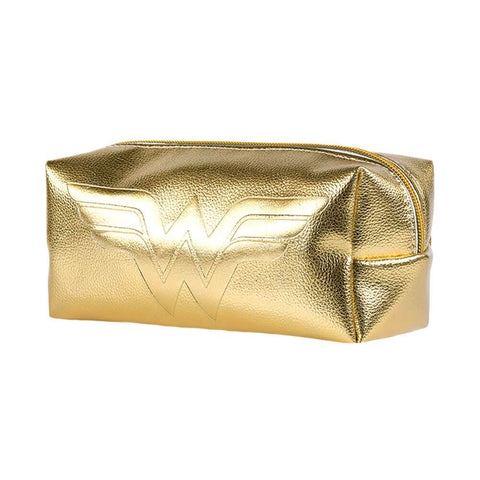 Wonder Woman Gold Shimmer Pencil Case.