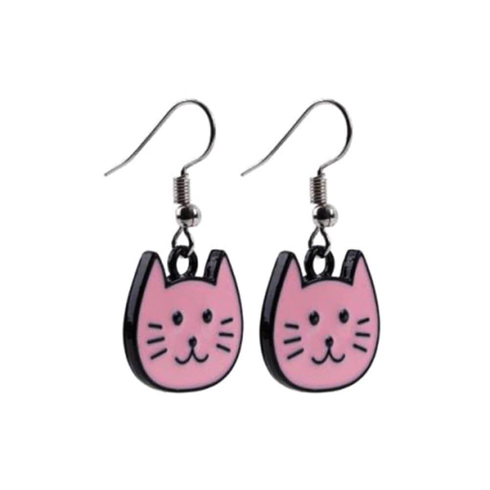 Cartoon Cat Face Drop Earrings