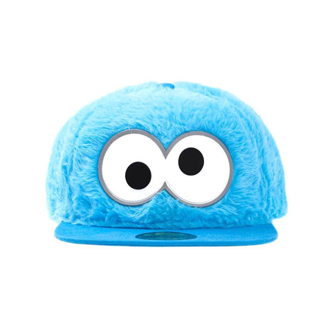 Sesame Street Cookie Monster Fluffy Snapback Cap.
