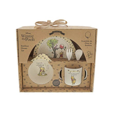 Load image into Gallery viewer, Disney Winnie the Pooh 5-Piece Bamboo Dinner Set