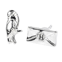 Load image into Gallery viewer, Harry Potter Hedwig and Acceptance Letter Silver Plated Stud Earrings