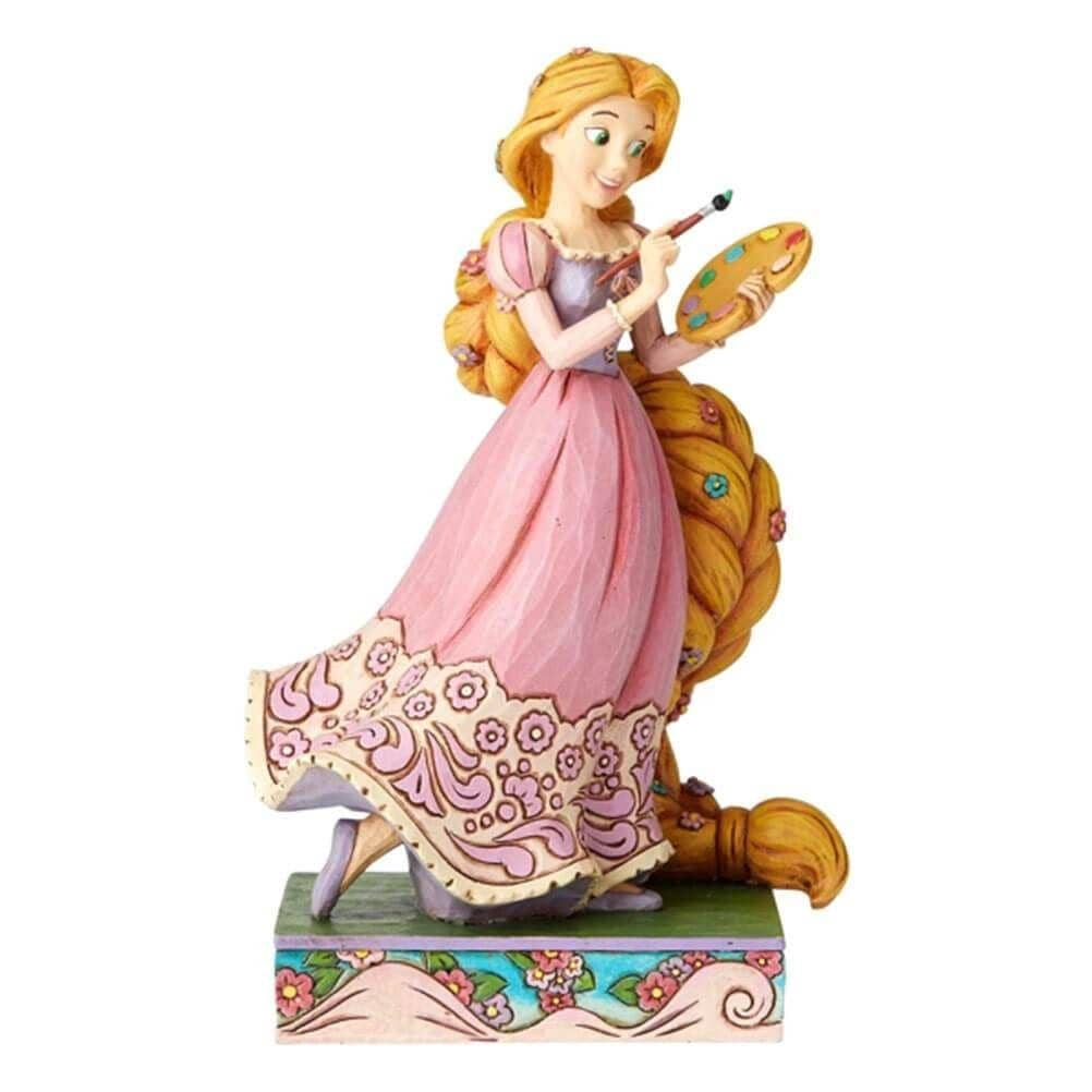 Front View of Disney traditions Rapunzel Princess Passion Figurine