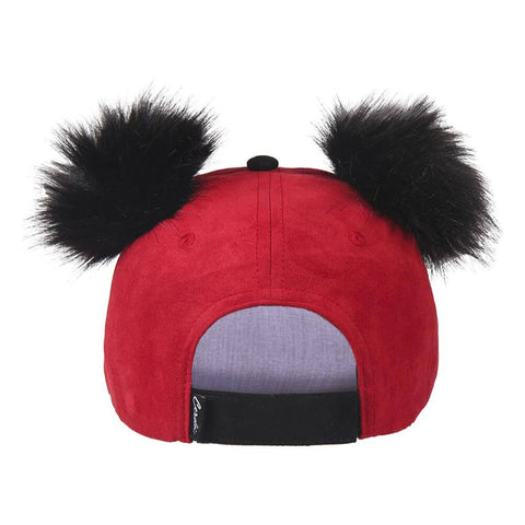 Mickey Mouse Premium Curved Bill Cap with Pom-Poms