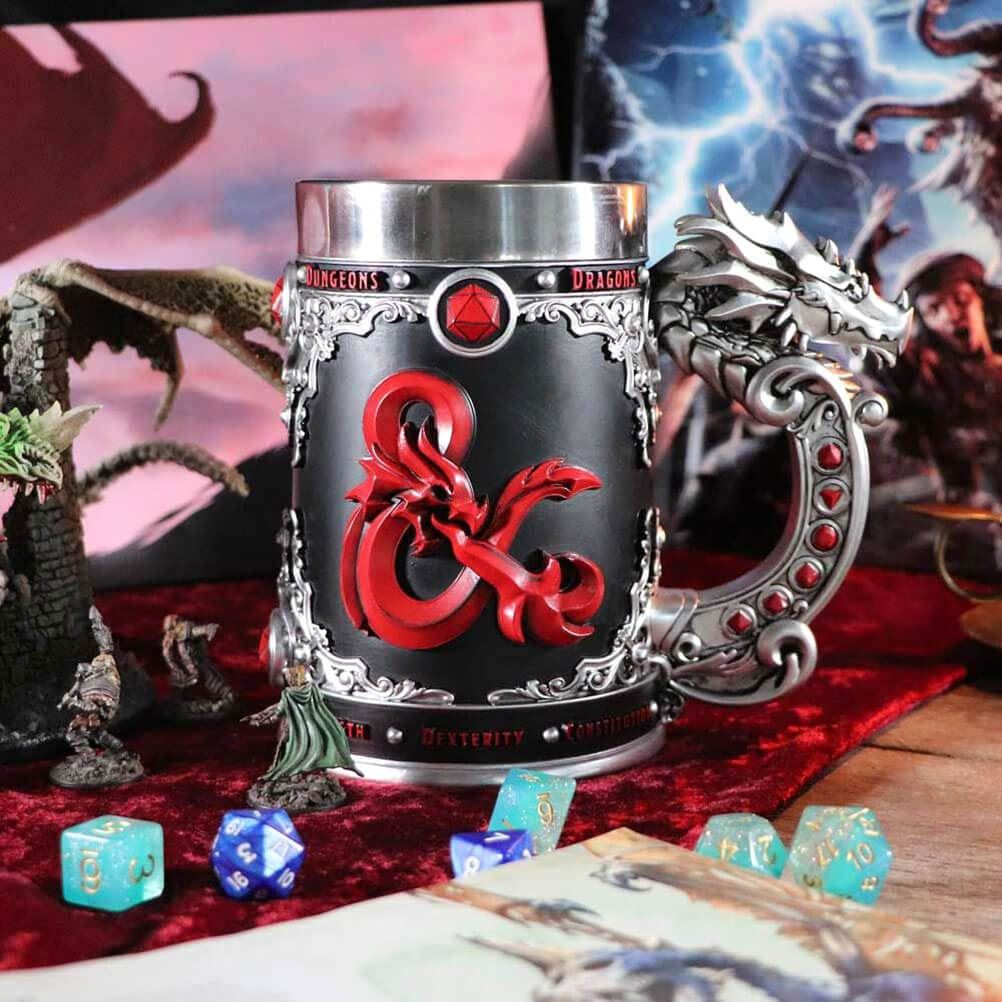 Dungeons & Dragons Fantasy Role Play Die D20 Tankard.