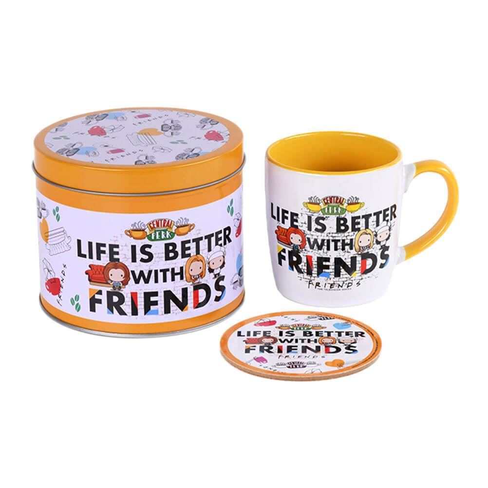 Friends Life Is Better Mug and Coaster Set in Gift Tin