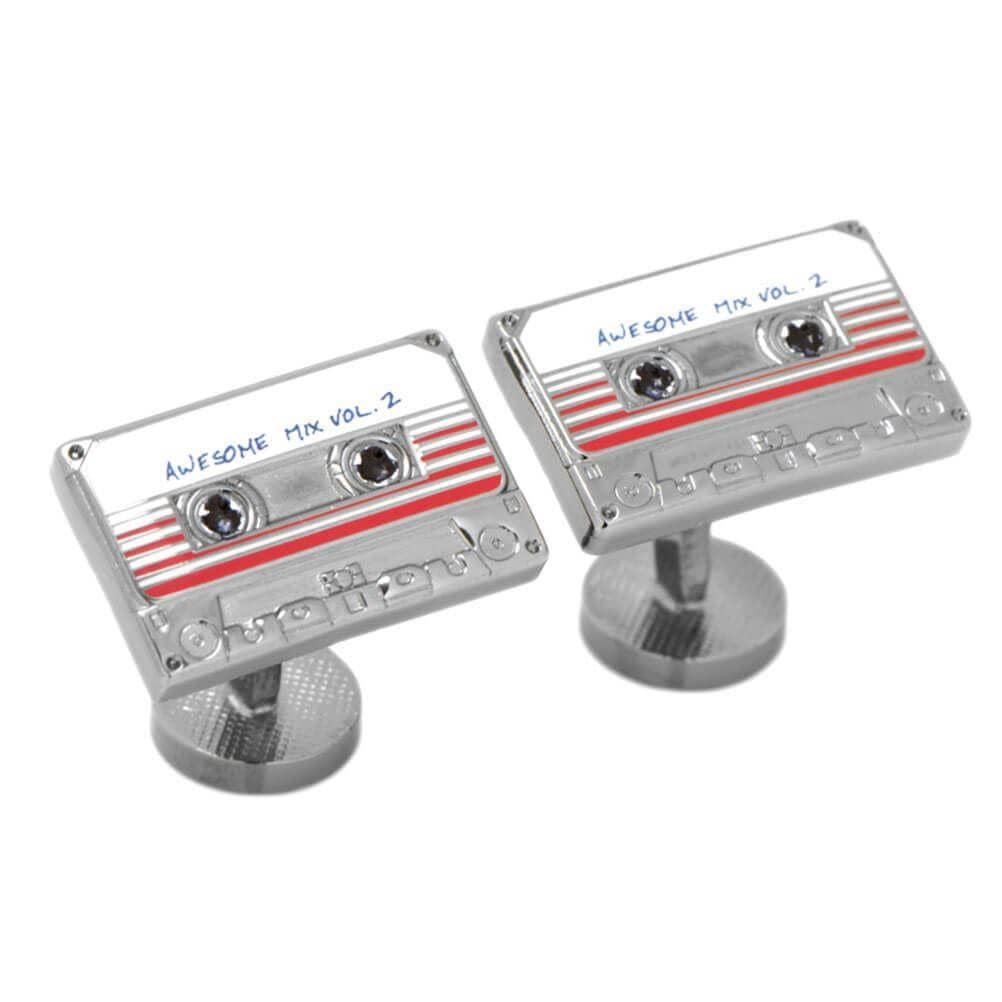 Pair of Guardians of the Galaxy Awesome Mix Tape No. 2 Cufflinks