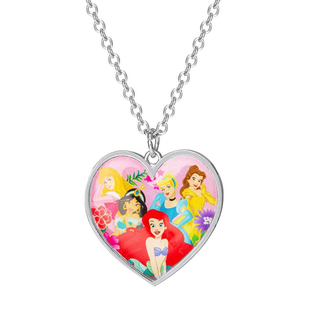 Children's Disney Princess Heart Pendant Necklace