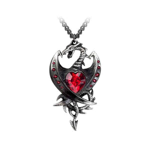 Alchemy Gothic Diamond Heart Pewter Pendant.