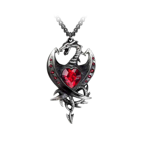 Alchemy Gothic Diamond Heart Pewter Pendant