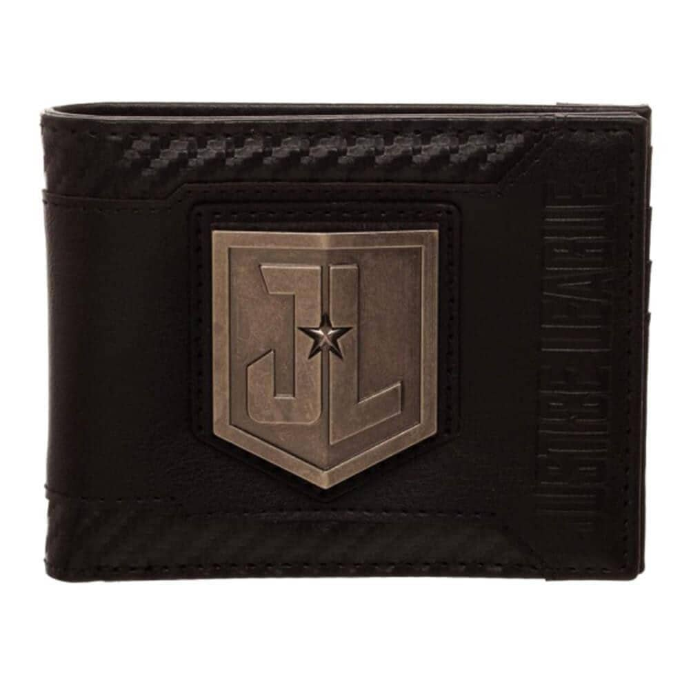 DC Justice League Movie Black Bi-Fold Wallet