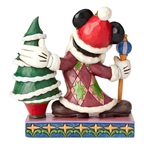 Back View of Disney Traditions Mickey Mouse Father Christmas Figurine