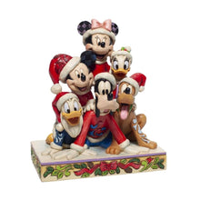 Load image into Gallery viewer, Disney Mickey and Friends 'Piled High with Holiday Cheer' Figurine