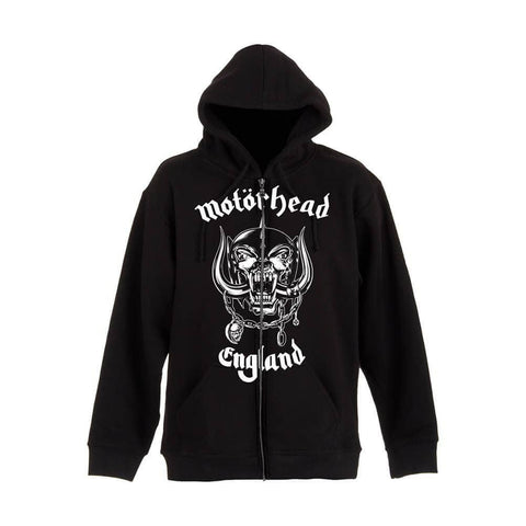 Men's Motorhead England Black Zip-Up Hooded Jacket