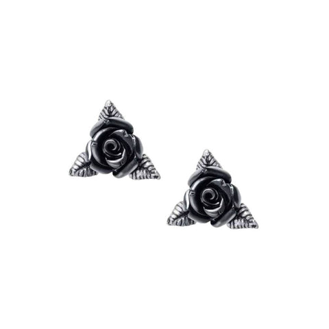 Alchemy Gothic Ring O' Roses Stud Earrings