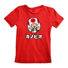 Load image into Gallery viewer, Children's Super Mario Toad Character Red T-Shirt
