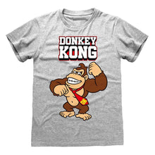 Load image into Gallery viewer, Men's Nintendo Donkey Kong Bricks Grey Crew Neck T-Shirt.
