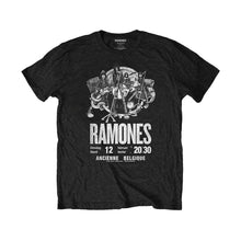 Load image into Gallery viewer, Men's The Ramones Belgique Poster Black Eco T-Shirt.
