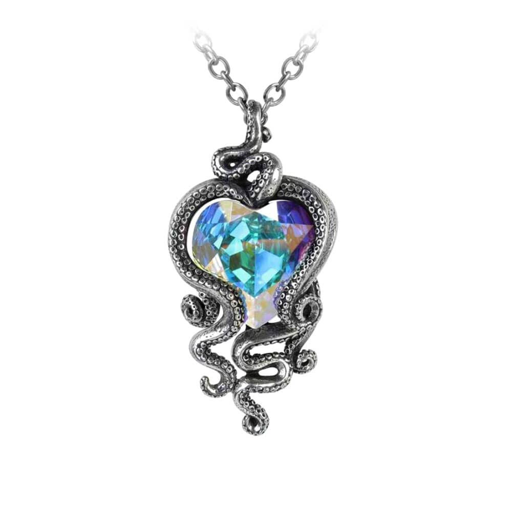 Alchemy Gothic Heart of Cthulhu Pewter Pendant