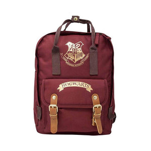 Front of the Premium Harry Potter Burgundy and Gold Backpack