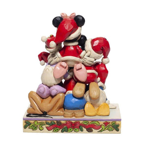 Disney Mickey and Friends 'Piled High with Holiday Cheer' Figurine