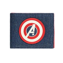 Load image into Gallery viewer, Captain America Avengers Shield Logo Bi-Fold Wallet