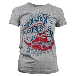 Women's Harry Potter All Aboard The Hogwarts Express Fitted T-Shirt