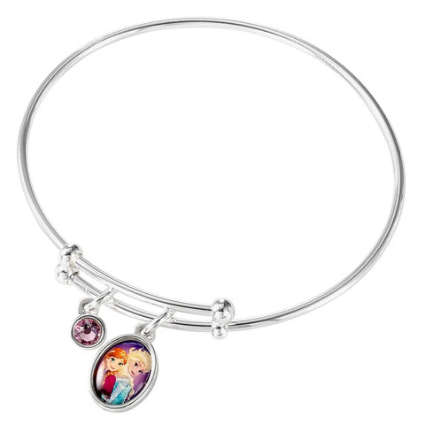 Children's Disney Frozen Silver Plated Adjustable Bangle