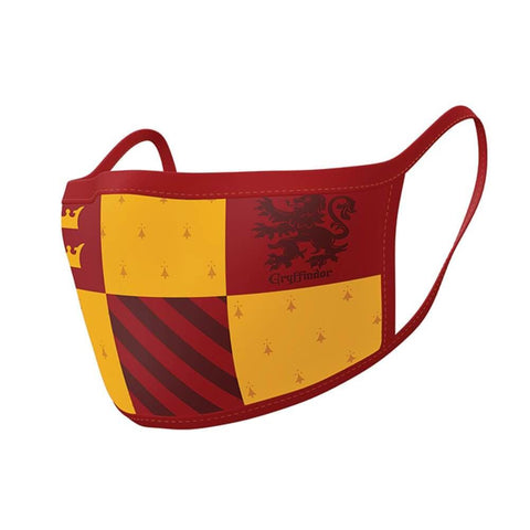 Harry Potter Gryffindor Triple Layer Cotton Fabric Face Mask 2PK