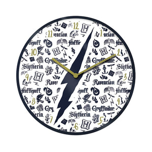 Harry Potter Hogwarts Infographic Wall Clock