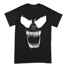 Load image into Gallery viewer, Men's Marvel Venom Bare Teeth Black Crew Neck T-Shirt.