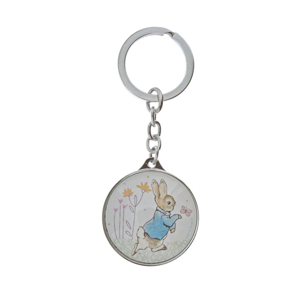 Beatrix Potter Peter Rabbit Metallic Keyring