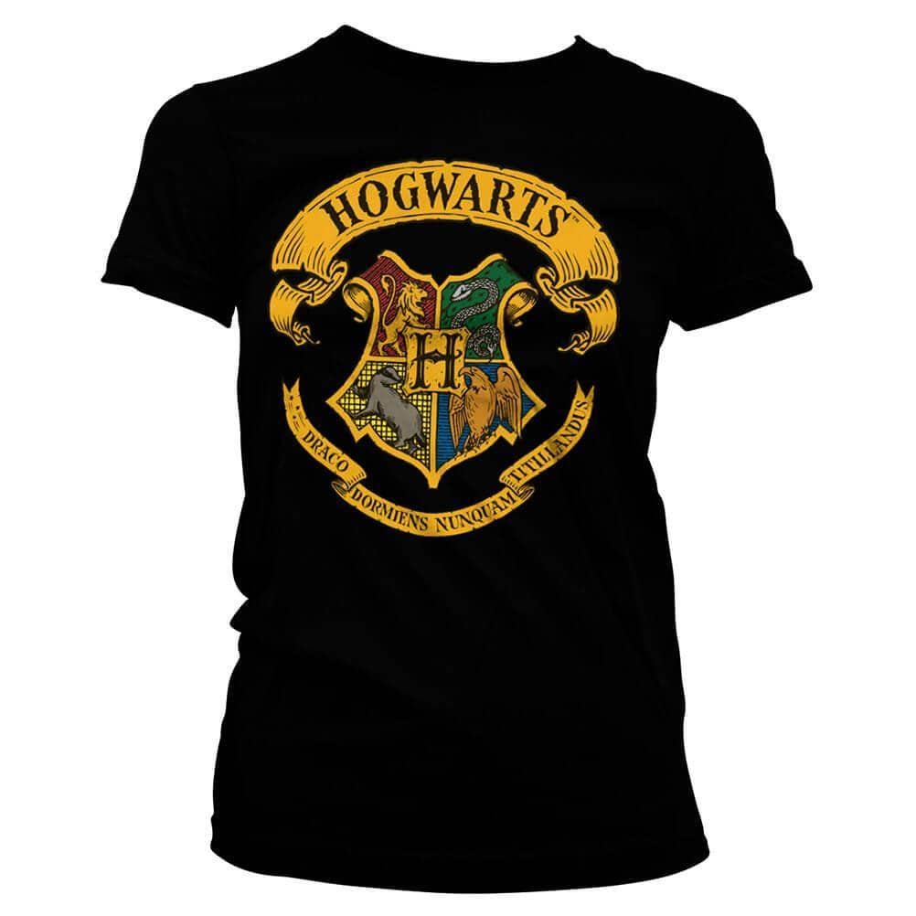 94fd4f197165 Women's Harry Potter Hogwarts House Crests Fitted T-Shirt – Retro Styler