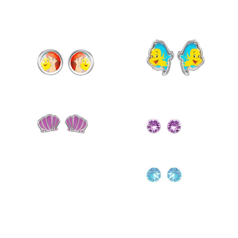 Disney Princess Little Mermaid 5 Piece Earring Set