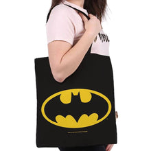 Load image into Gallery viewer, DC Comics Batman Logo Canvas Tote Bag.