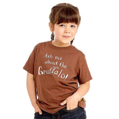Children's Ask Me About The Gruffalo Brown T-Shirt