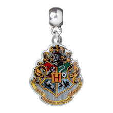Load image into Gallery viewer, Harry Potter Silver Plated Hogwarts Crest Slider Charm