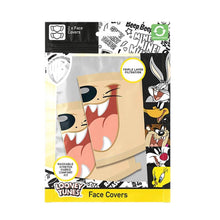 Load image into Gallery viewer, Looney Tunes Taz Triple Layer Cotton Fabric Face Mask 2PK