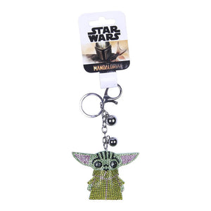 Star Wars The Mandalorian The Child 3D Sparkly Charm Keyring